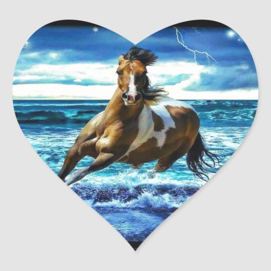 Sticker Cœur Sea horse