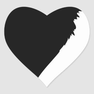 Sticker Cœur Séance de vautour