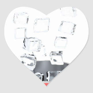 Sticker Cœur Seau à glace