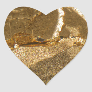 Sticker Cœur Section mince de carbonate triassique sous le