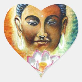 Sticker Cœur seigneur Bouddha