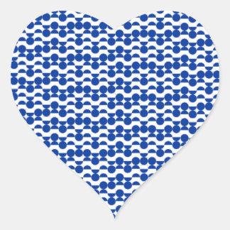 Sticker Cœur semi mosaïque de bleu de cercle