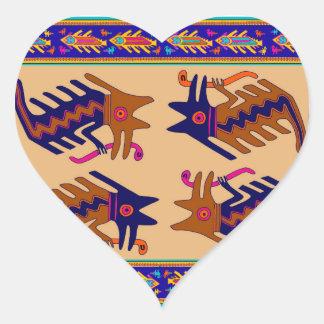 Sticker Cœur Serpent de tribal d'Inca