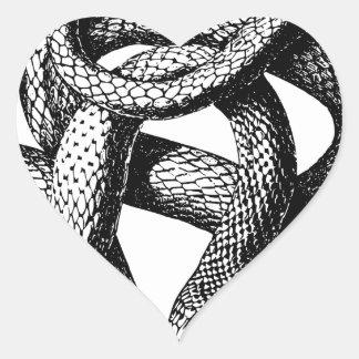 Sticker Cœur Serpent tordu