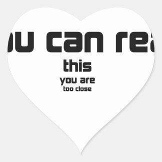 Sticker Cœur si vous pouvez lire ceci, vous êtes cadeau trop