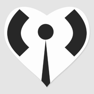 Sticker Cœur Signal de Wifi
