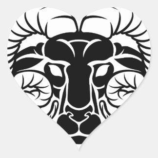 Sticker Cœur Signe de RAM d'astrologie de zodiaque de Bélier