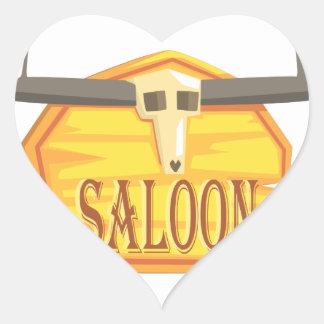 Sticker Cœur Signe de salle avec le dessin de tête morte