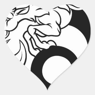 Sticker Cœur Signe de zodiaque de Capricorne d'horoscope