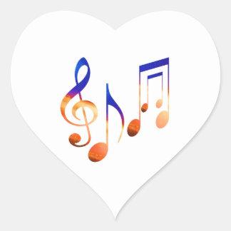 Sticker Cœur Signes de musique de danse