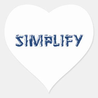Sticker Cœur Simplifiez