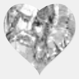 Sticker Cœur soldat barbu