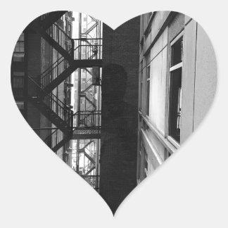 Sticker Cœur Sorties de secours de NY