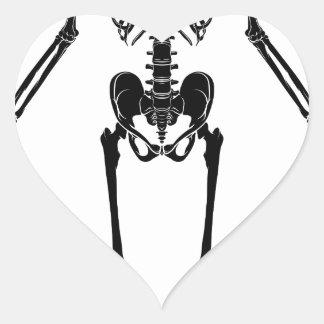 Sticker Cœur Squelette humain d'anatomie