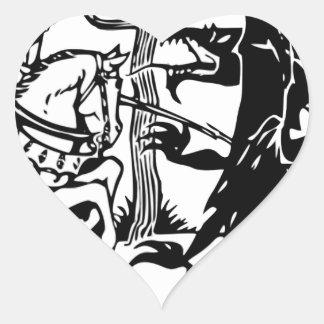 Sticker Cœur St George