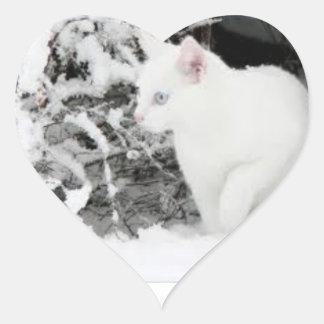Sticker Cœur Sticer d'amour de tempête de neige