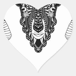 Sticker Cœur Style de mandala de dessin de RAM