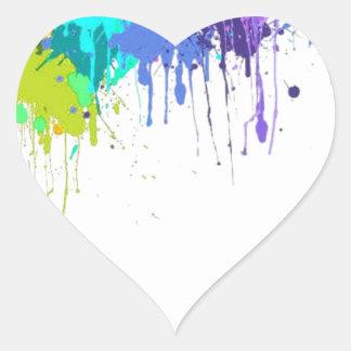 Sticker Cœur sujets d'éclaboussure de paintball