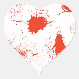 Sticker Cœur Sujets d'éclaboussure de sang de Halloween