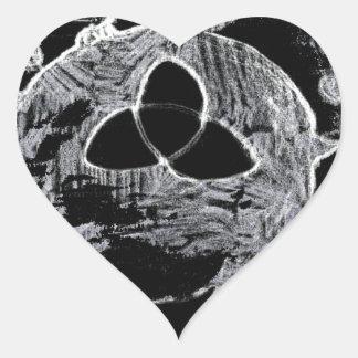 Sticker Cœur symbole wiccan pour les sorcières