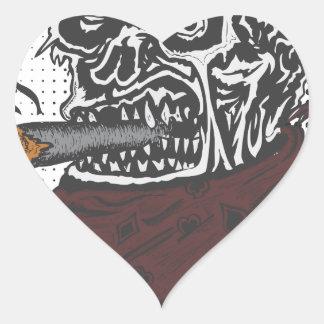 Sticker Cœur Tabagisme de crâne