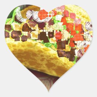 Sticker Cœur Taco de pixel