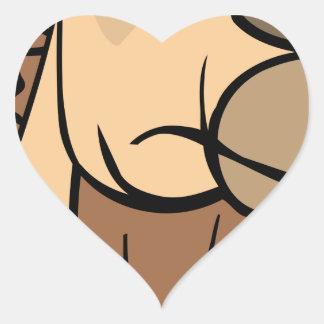 Sticker Cœur Tête de chameau