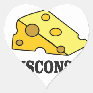 Sticker Cœur Tête de fromage du Wisconsin