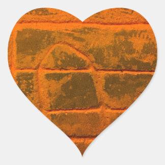 Sticker Cœur Texture orange patinée