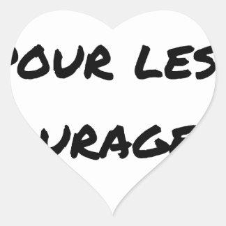 Sticker Cœur THÉ MÉRITÉ POUR LES COURAGEUX - Jeux de mots