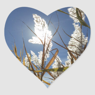 Sticker Cœur Thème de lumière du soleil d'éblouissement