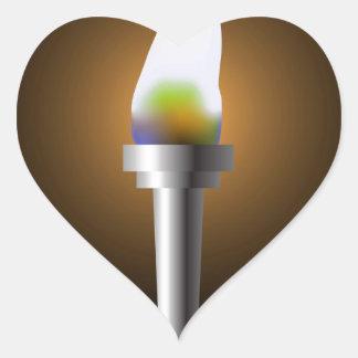 Sticker Cœur Torche