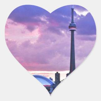 Sticker Cœur Tour de NC : Vue d'île centrale Toronto