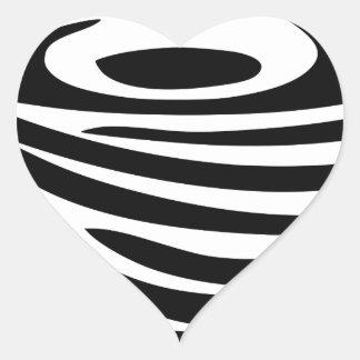 Sticker Cœur Tourbillon