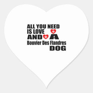 Sticker Cœur Tous vous avez besoin de la conception de chiens