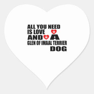 Sticker Cœur Tous vous avez besoin de la GORGE d'amour des