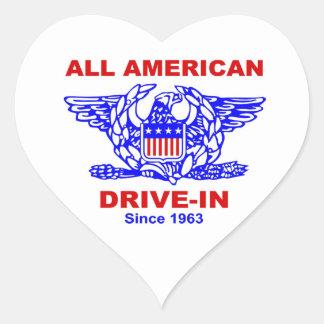 Sticker Cœur Toute la commande américaine d'hamburger au COEUR