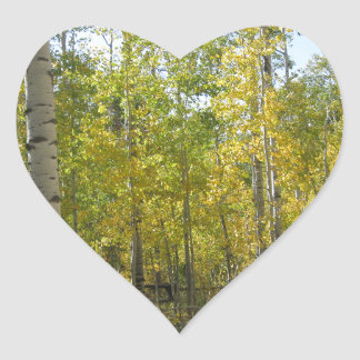 Sticker Cœur Trembles en automne