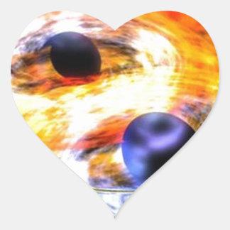 Sticker Cœur trou noir