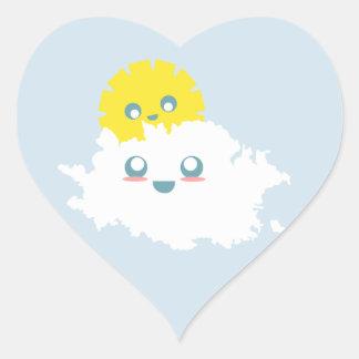 Sticker Cœur Un morceau de Lil de ciel