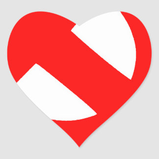 Sticker Cœur Union Soviétique primitive CCCP de marteau et de