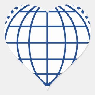 Sticker Cœur Unissez autour du monde