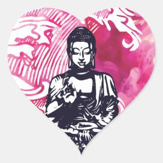 Sticker Cœur Vague de Bouddha d'ouragan