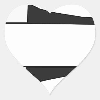 Sticker Cœur Vaisseau spatial