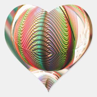 Sticker Cœur Variation sur le thème
