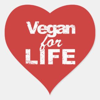 Sticker Cœur Végétalien pendant la VIE (blanche)