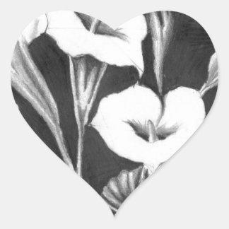 Sticker Cœur Verres de Lait
