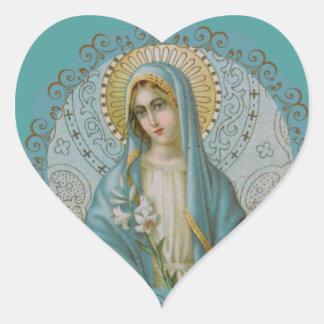 Sticker Cœur Vierge Marie impeccable décorative