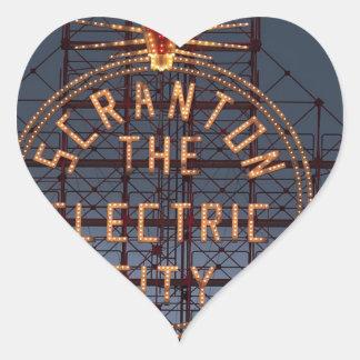 Sticker Cœur Ville électrique de Scranton