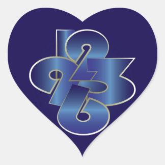 Sticker Cœur vingt-quatre heures sur vingt-quatre